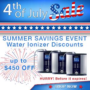 water ionizer discounts