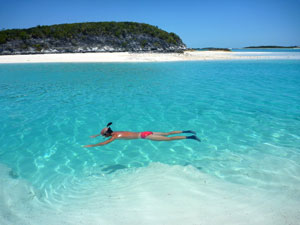Tranquil snorkeling at Compass Cay