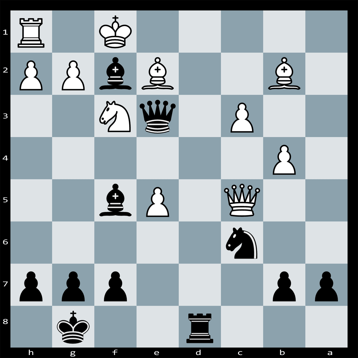 Mate in Three moves, Black to play | Chess Puzzle #130