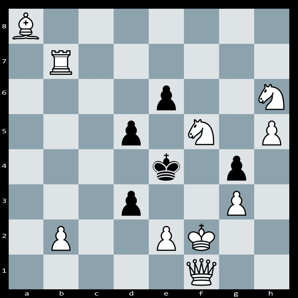 Find checkmate in two moves, White to play.
