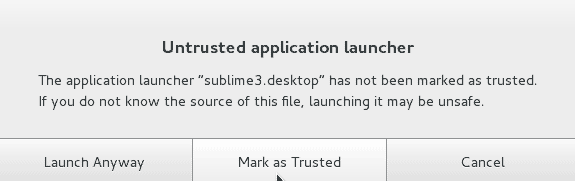 Untrusted application launcher