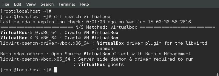 dnf install VirtualBox-5.0