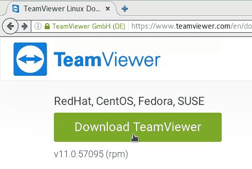 Download TeamViewer for Fedora Linux