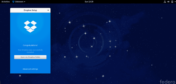 How to Install DropBox on Fedora Workstation