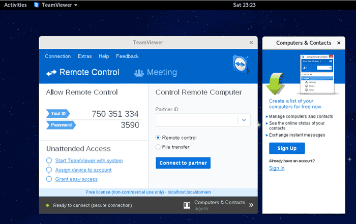 Install TeamViewer in Fedora 24 Workstation
