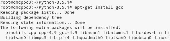 Install gcc compiler Debian Linux