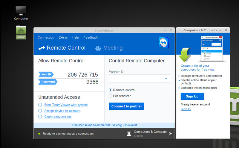 Install Teamviewer on Linux Mint