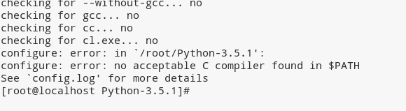"""configure: error: no acceptable C compiler found in $PATH"" in Linux"