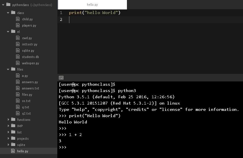 Add Python Shell to Atom Text Editor