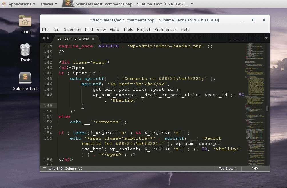 Install Sublime Text editor on CentOS 7 Linux