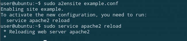 a2ensite enable ubuntu apache virtual host