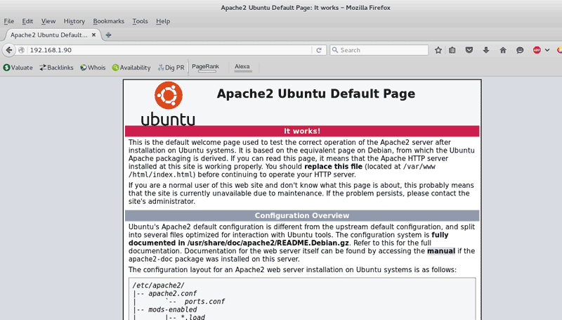 Install Apache on Ubuntu Server 14.04