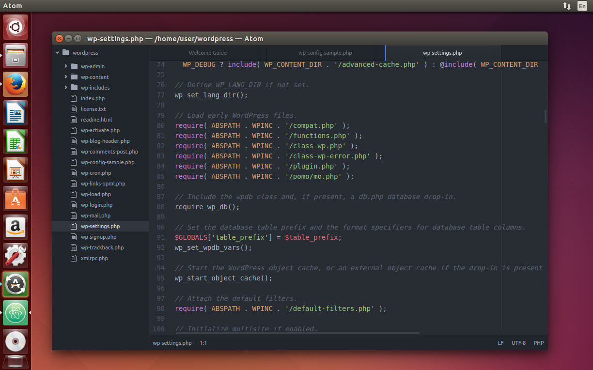 Atom Text Editor on Ubuntu 14.04