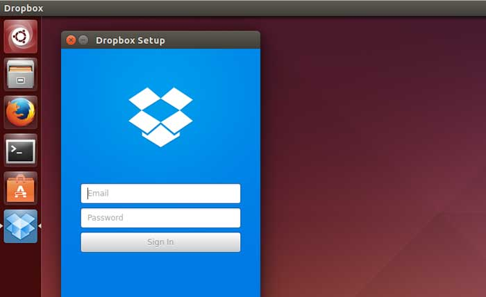 Dropbox on Ubuntu Linux 14.04
