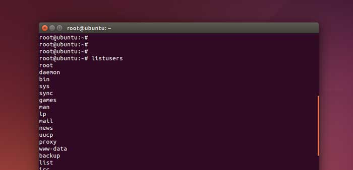 ubuntu list all users command alias