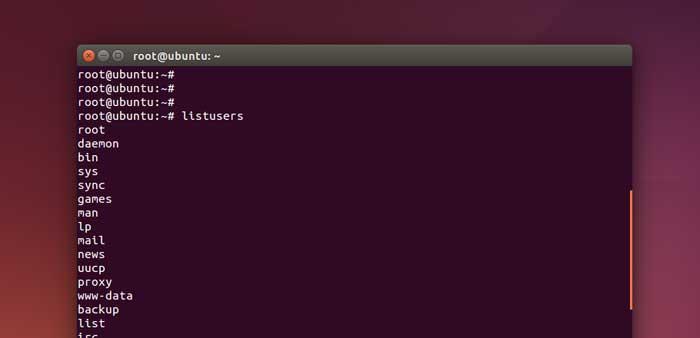 ubuntu list all users command alias