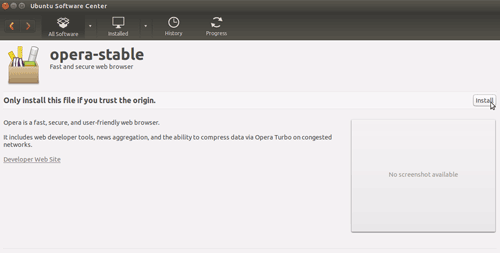 How to Install Opera on Ubuntu Desktop 14.04