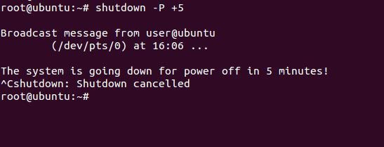 Cancel pending shutdown ubuntu server