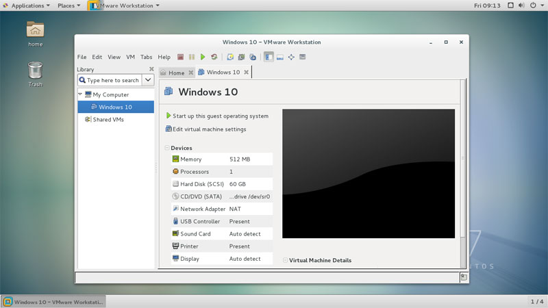 Install VMware Workstation on CentOS 7 Linux