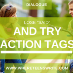 action tags in dialogue