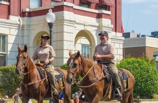 We ride parades for White County Mounted Patrol