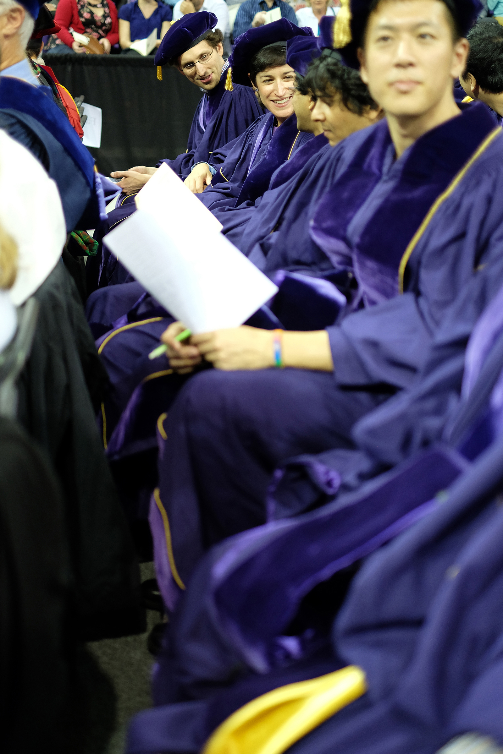 New graduates at the arena