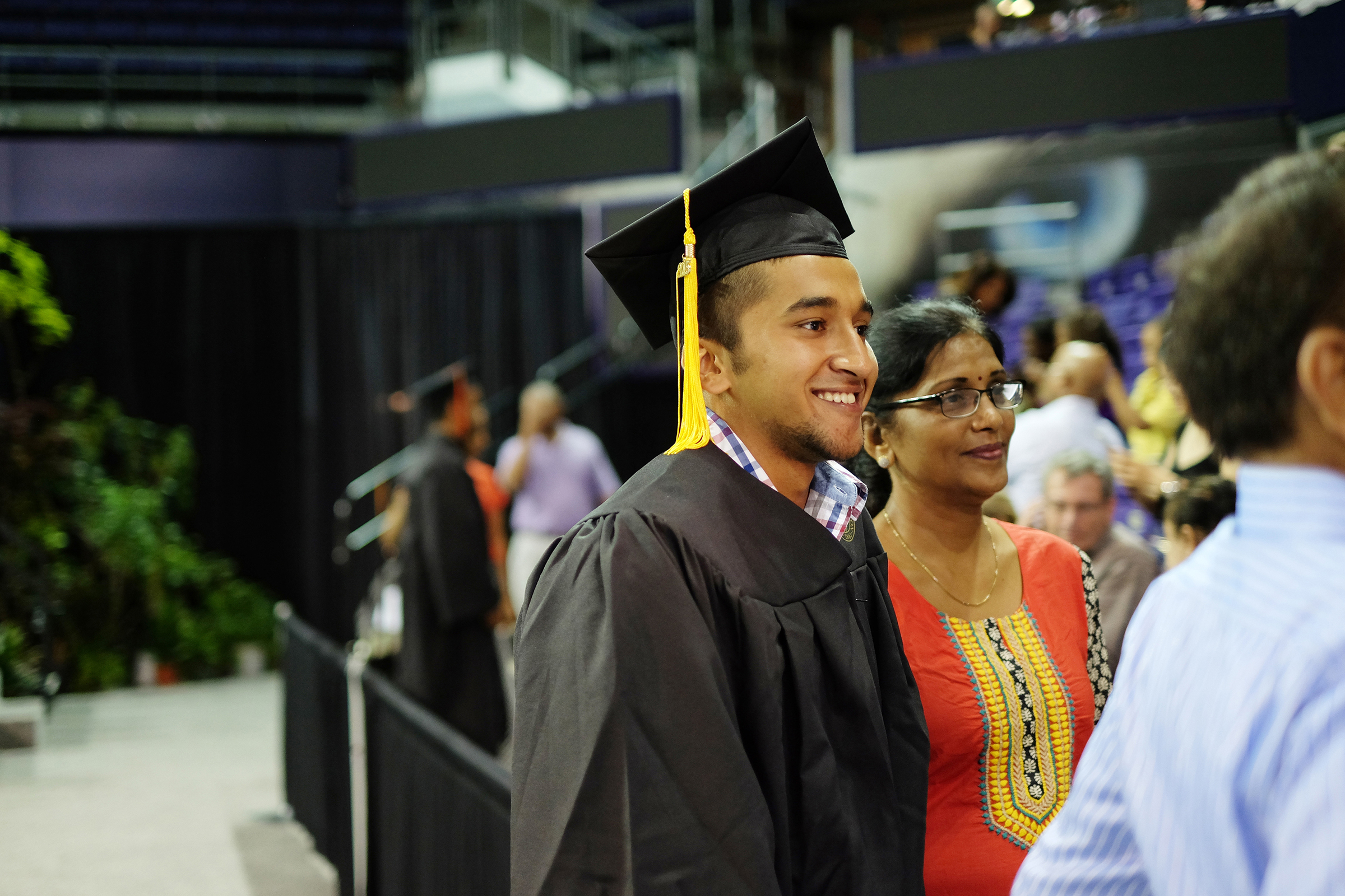 Graduates and guests at the arena