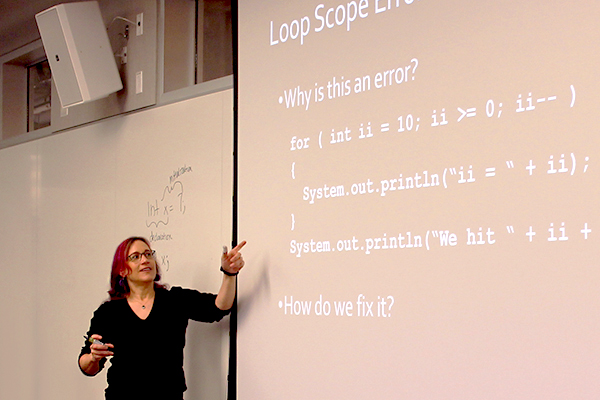 Lecturer Lauren Bricker reviews loop scope errors