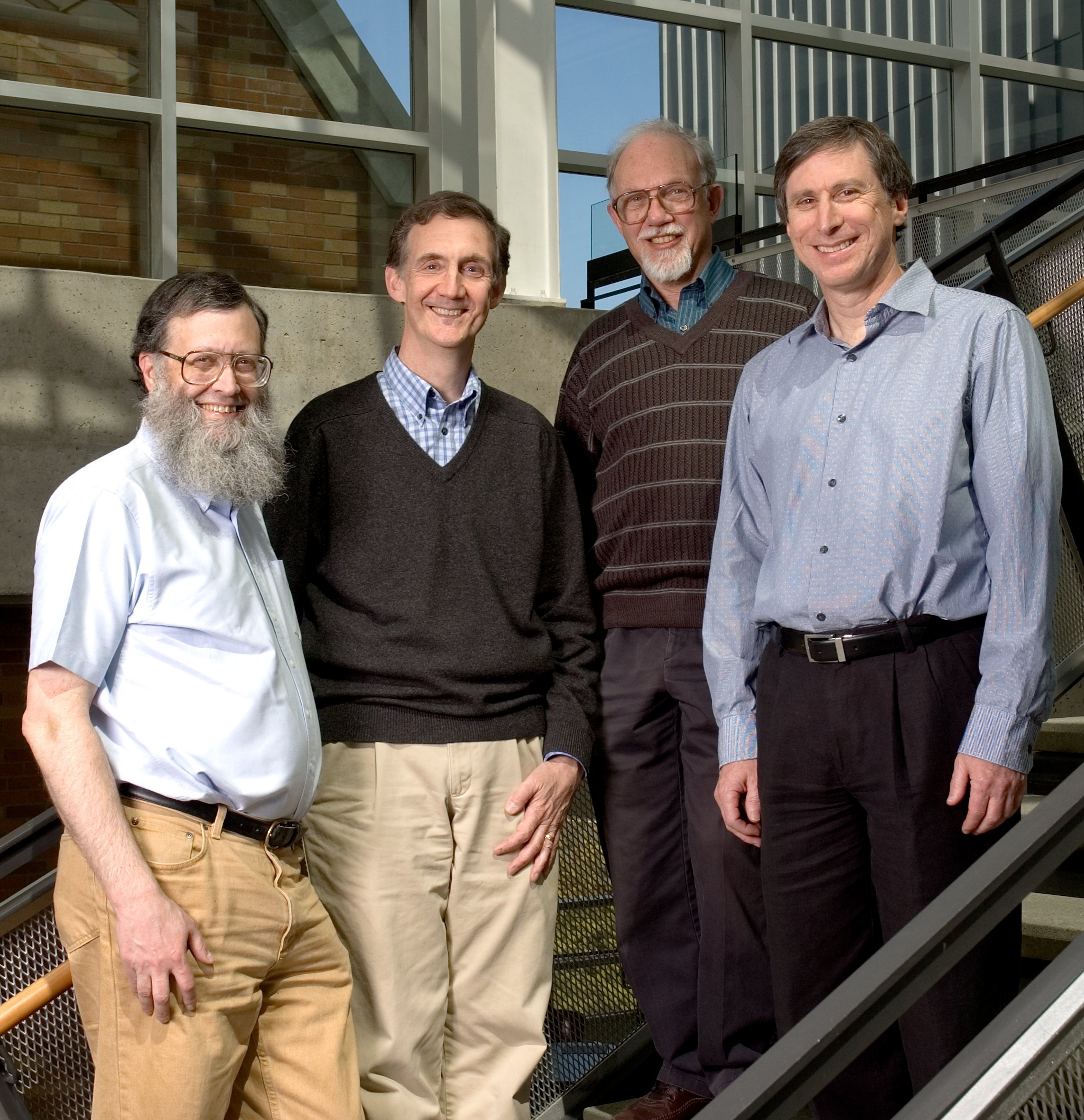 Four recent CSE department chairs:  David Notkin, Ed Lazowska, Jean-Loup Baer, Hank Levy
