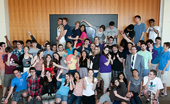 Group photo of undergraduate TAs