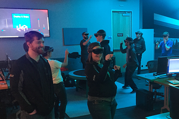 Students in the Allen School's augmented and virtual reality capstone course