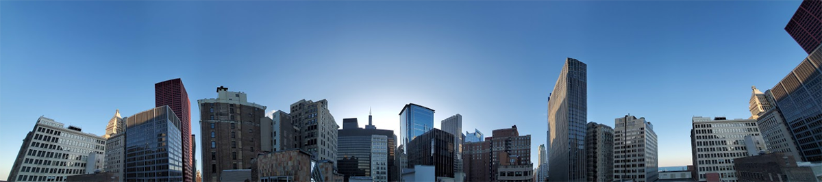 A panoramic view of downtown Chicago