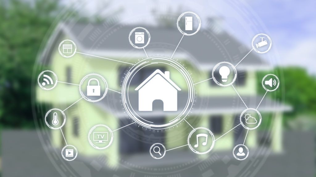 Different examples of IoT in the home