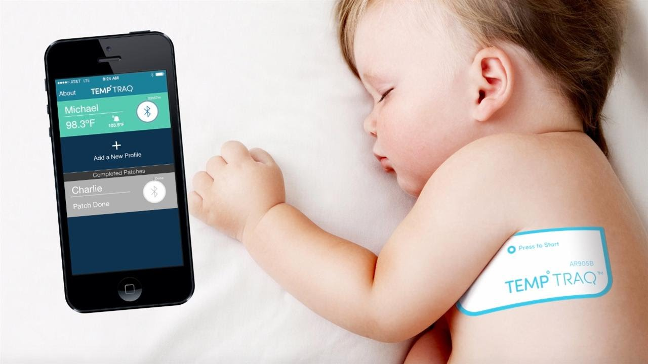Photo of baby temperature tracking app.