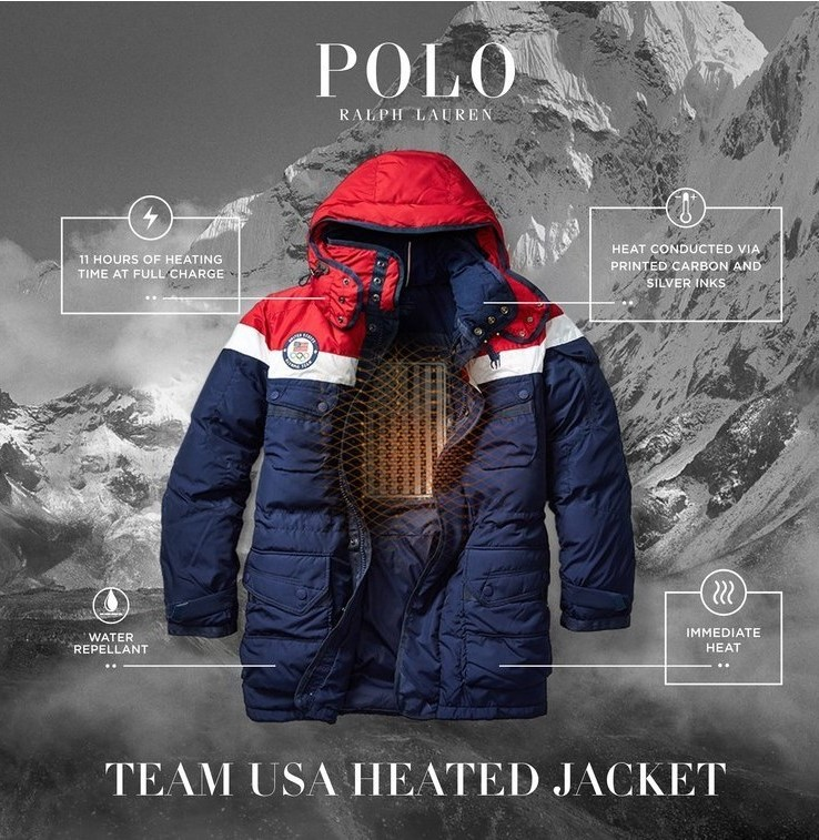 Team USA self-heating jacket.