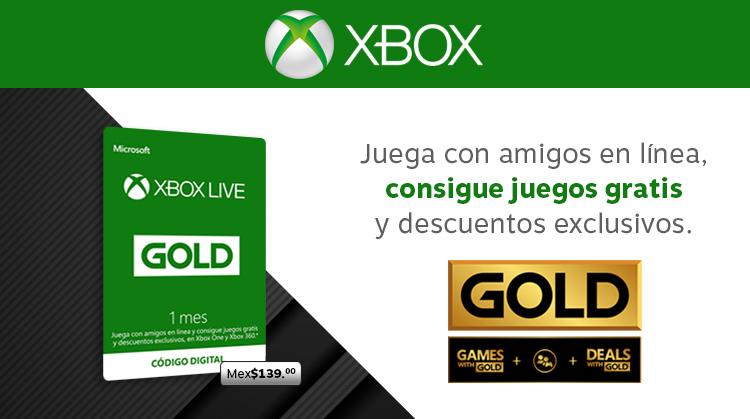 Membresía 1 mes Xbox Live Gold!