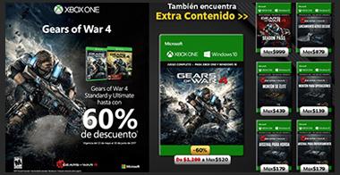 Gears of War 4 con hasta 60% de descuento!