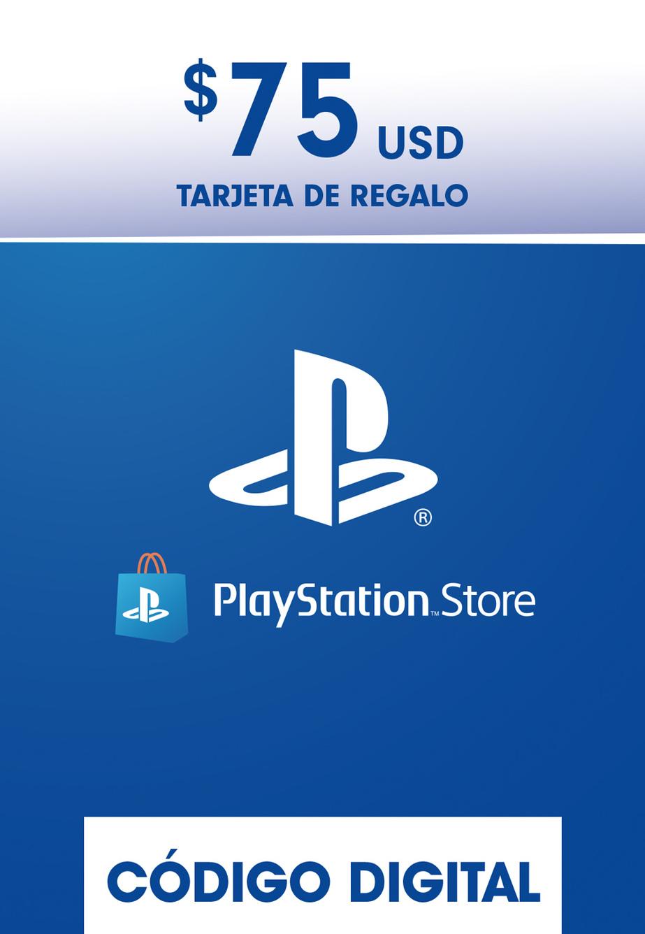 Tarjeta de Regalo PlayStation Store de 75 Dolares