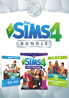 The Sims 4 Bundle - Get Together, Spa Day, Movie Hangout Stuff - Origin