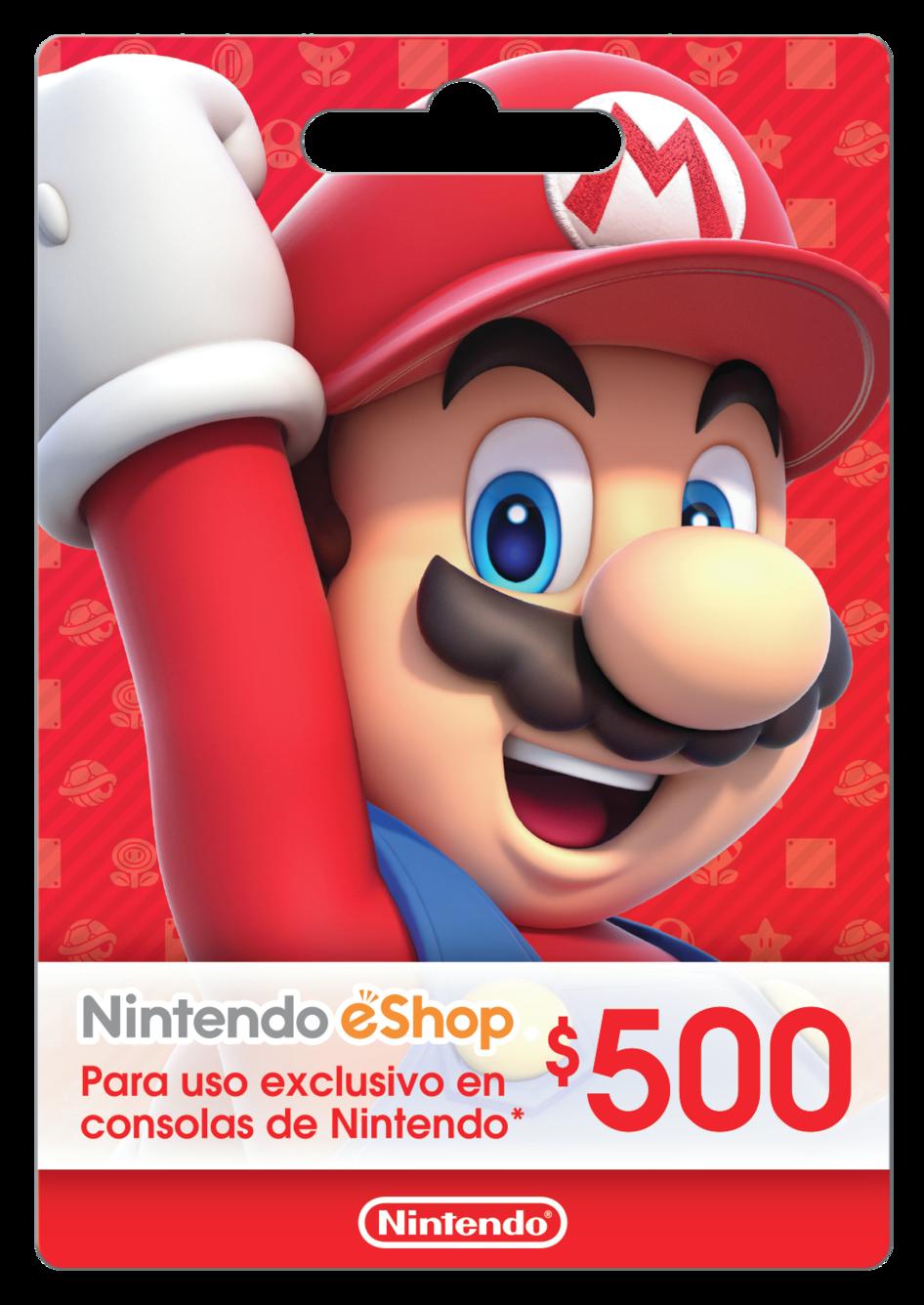 Saldo digital Nintendo eShop $500 MXN