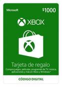 Tarjeta De Regalo Digital De Xbox Por Mxn$1000