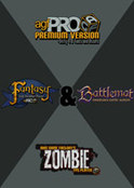 Mega Bundle - Axis Game Factory s AGFPRO 3.0 & Premium & Zombie & Fantasy & BattleMat DLC s