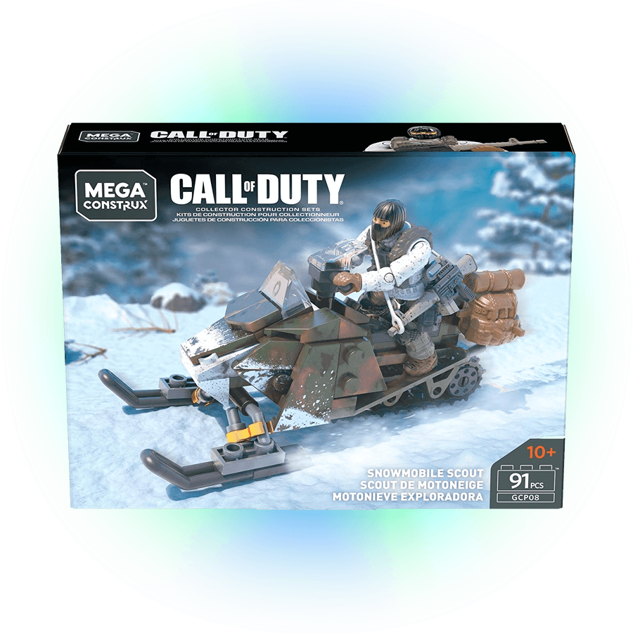 Mega Construx Calll of Duty Moto de nieve