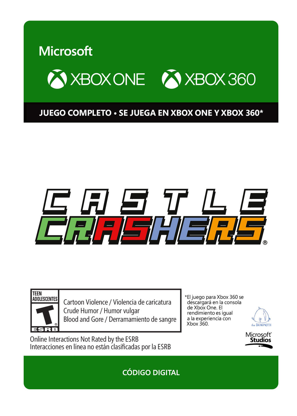 Castle Crashers - Xbox 360, Xbox One - Descarga - Esd