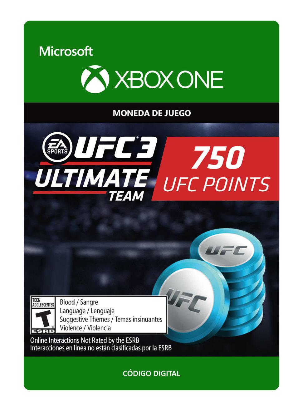 UFC 3 Paquete De 750 Puntos