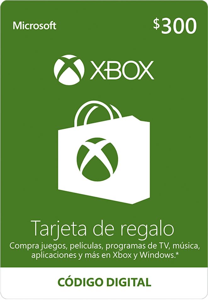 Tarjeta De Regalo Digital De Xbox Por Mxn$300