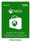Tarjeta De Regalo Digital De Xbox Por Mxn$600