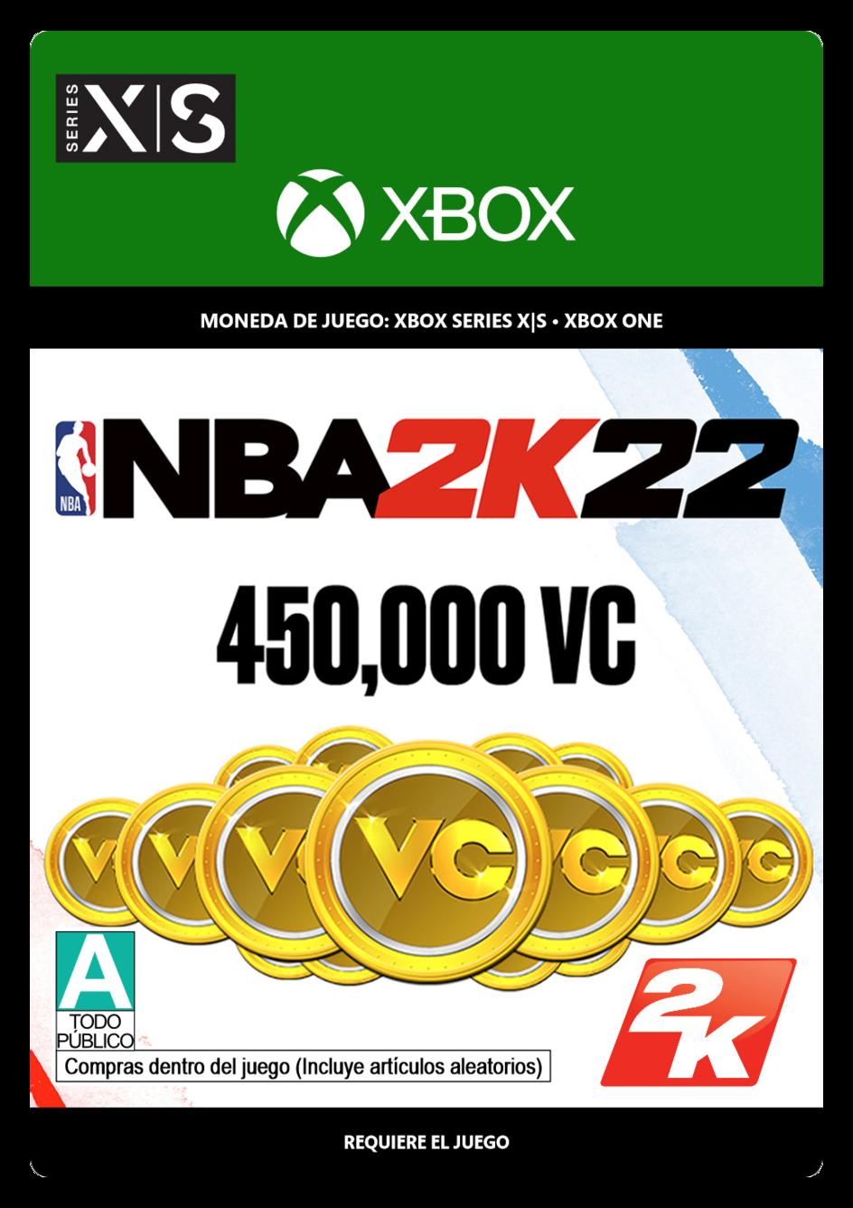 NBA 2K22: 450,000 VC