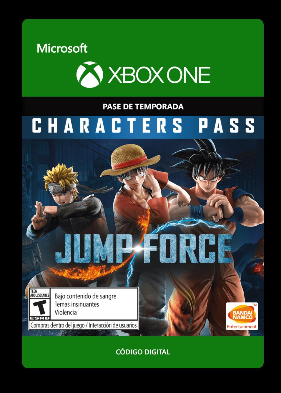 Jump Force Pase de Personajes