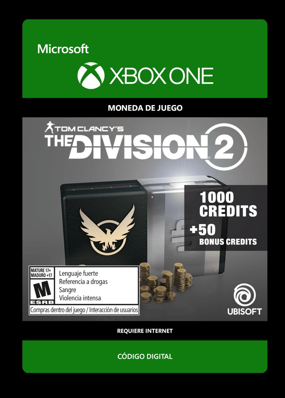 Tom Clancys The Division 2: 1050 Premium Credits Pack